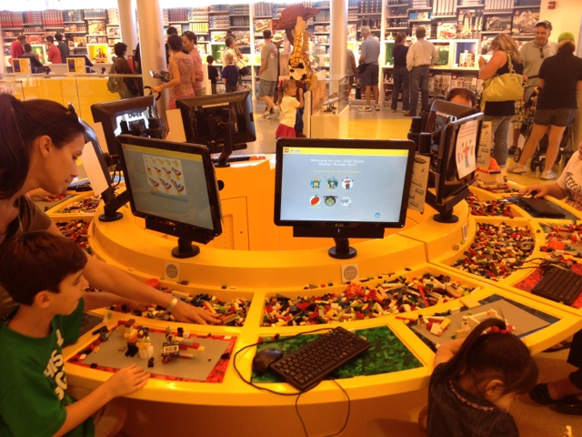 tactile and virtual interactions at the Lego store