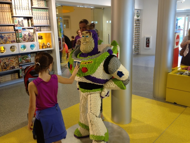 showcasing projects at the Lego store