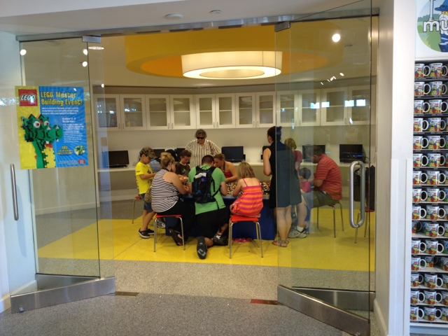 breakout rooms at the Lego store