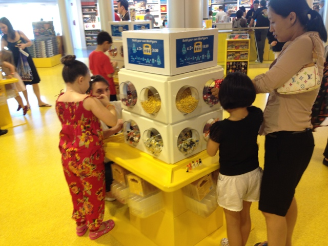 multi-age learning at the Lego store