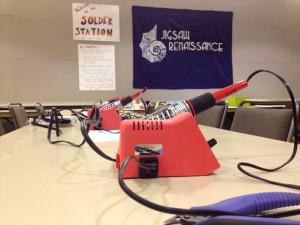 solder station at seattle mini-maker faire