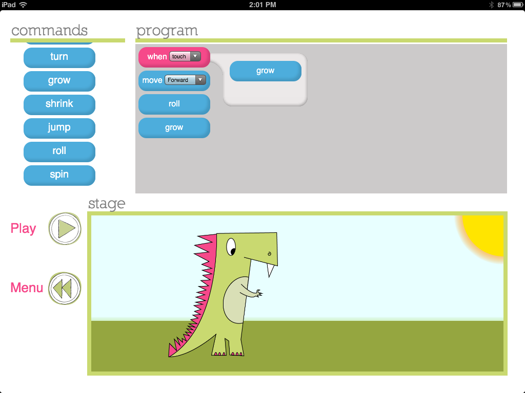 Daisy the Dinosaur - iPad programming app