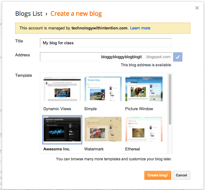 classroom blog instructions edtech